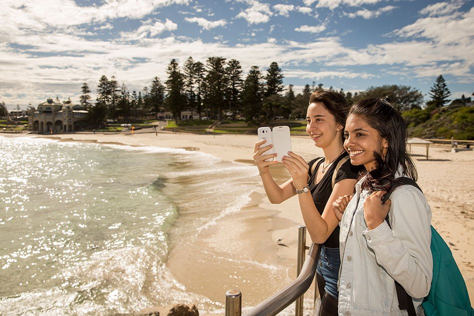Students enjoy spending time at Perth's beautiful beaches
