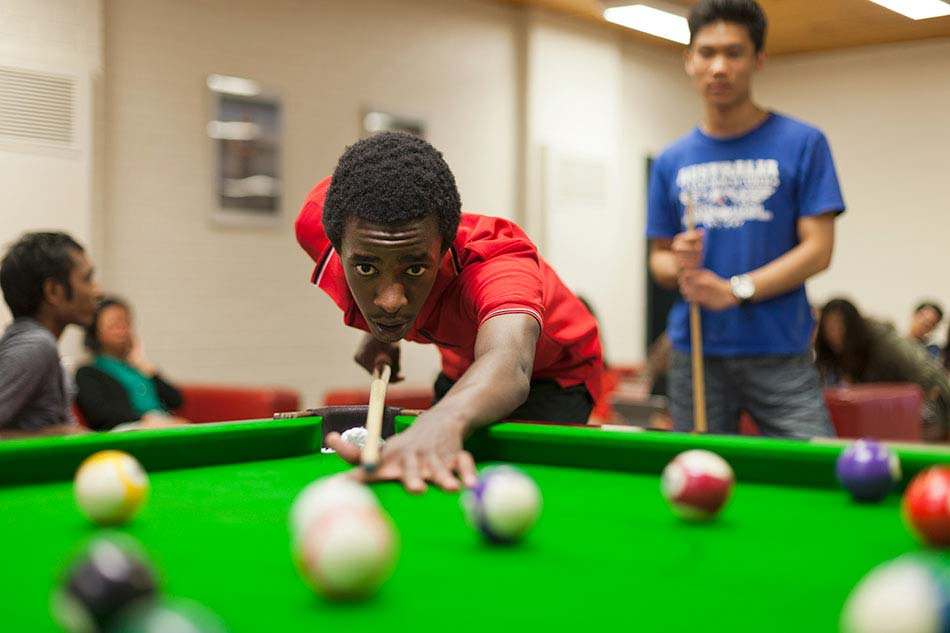 UWA students play pool