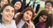 Taylors College Perth students do a group selfie